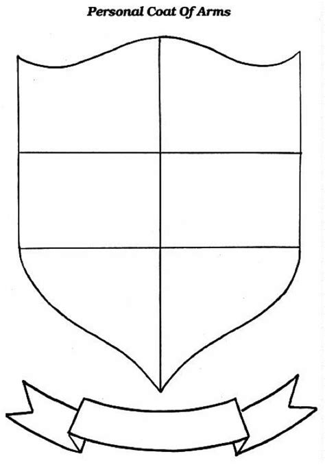 coat of arms printable template coat of arms template cyberuse
