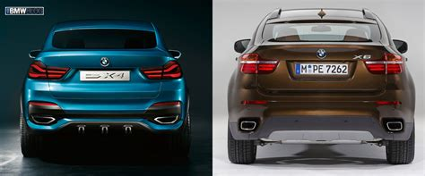 size difference between bmw x3 and x5 photo comparison bmw x4 vs bmw x6