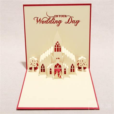 Handmade Pop Up Greeting Cards - 3d greeting card quot the wedding day quot handmade 3d pop up