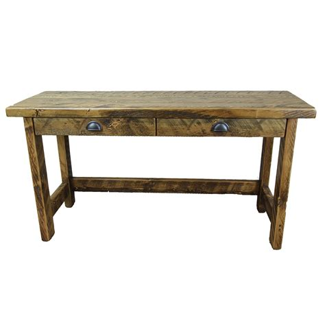 rustic writing desk with drawers four corner furniture
