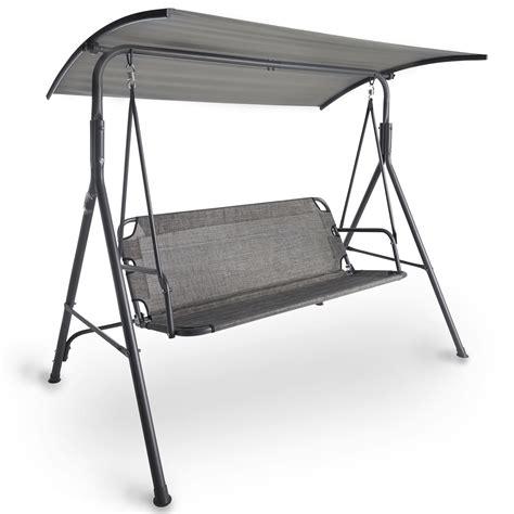 swing seat design vonhaus 3 seater swing seat with canopy outdoor garden
