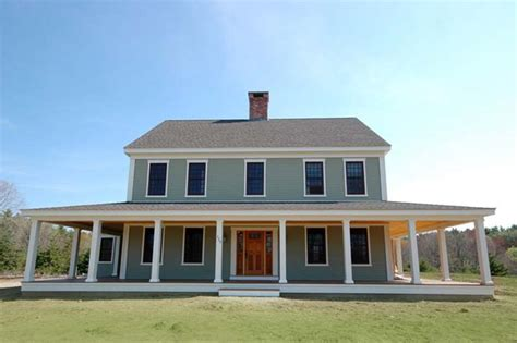 colonial farmhouse with wrap around porch new england farmhouse w wrap around porch hq plans