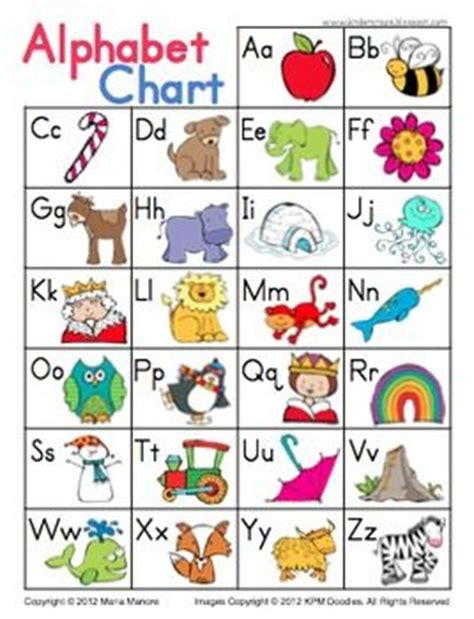 printable a z alphabet chart charts alphabet charts and alphabet on pinterest