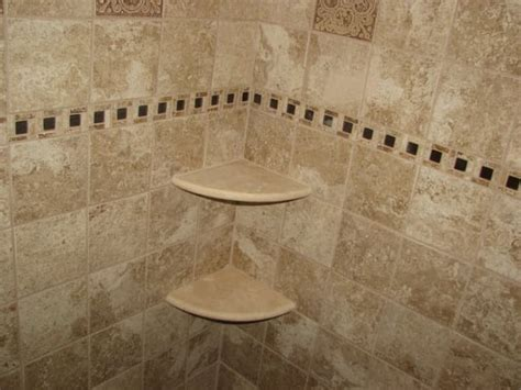 Ceramic Tile Shower Shelf by Ceramic Tile Shower With Marble Corner Shelves Marlton Nj