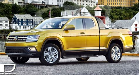 Vw New York Auto Show by Vw Atlas Pickup Concept Tipped To Debut At New York Auto