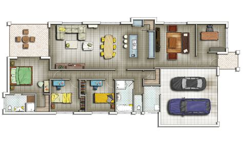 2d floor plans 2d residential home floor plan 06 2d floor designs