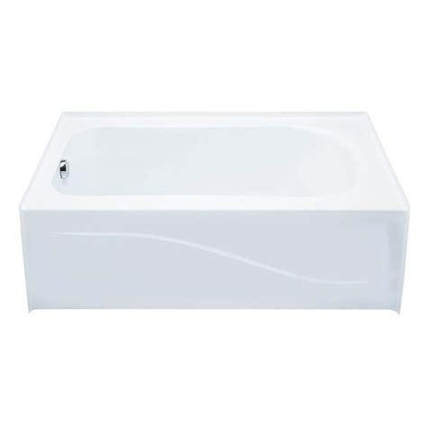 aquatic bathtub aquatic 6030ais 5 ft left drain acrylic soaking tub in
