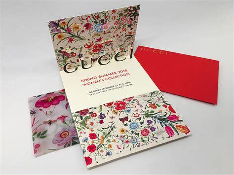 GUCCI Invitation card - Student Invitation Design Award Winner Gold Gucci Background