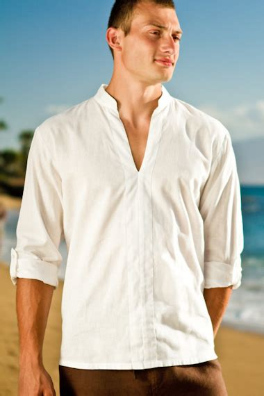 Line Longshirt linen mens shirts artee shirt