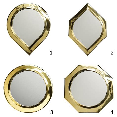 brass mirror assorted shapes by idyll home large mirror in brass 30 x 30 cm products tine k home