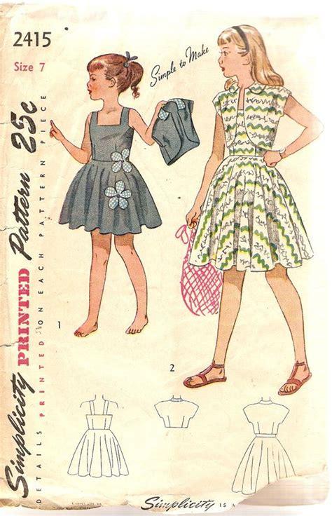 fashion sewing patterns inspiration community and 1940s girls sundress pattern bolero jacket by