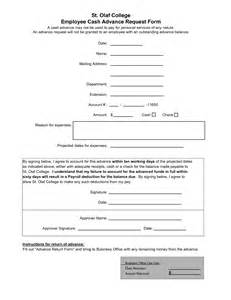 10 best images of employee cash advance agreement form
