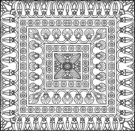tappeti arabi ausmalen erwachsene arabische welt teppich 10