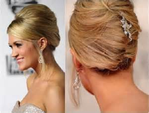 carpet updo hairstyles back view