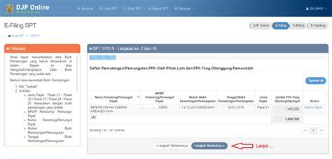 cara isi e filling isi e filing secara online ra7a bakbudik cara pengisian
