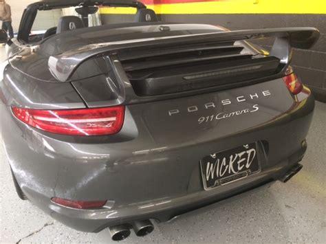 porsche  techart style rear trunk wing spoiler upgrade porsche body kits