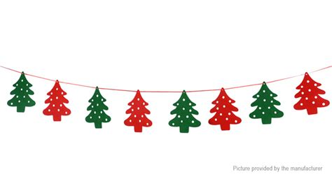 christmas tree styled bunting banner flag christmas decoration  fasttech worldwide