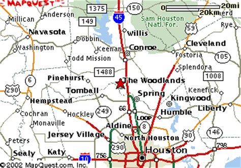where is the woodlands texas on the map the woodlands texas