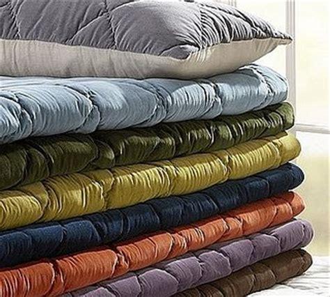 green velvet comforter steal of the day pottery barn velvet linen quilt and sham