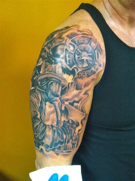 30 Firefighter Tattoos On Sleeve Firefighter Tattoos Designs