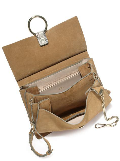 J H Cloe Tote Bag chlo 233 medium python suede shoulder bag lyst