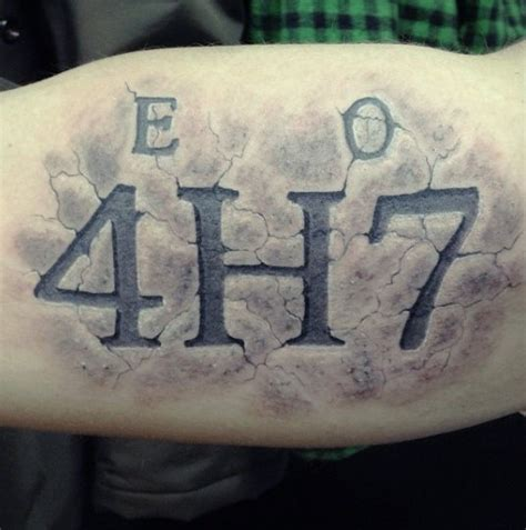 Tattoo Numbers 3d | 70 number tattoos for men numerical ink design ideas