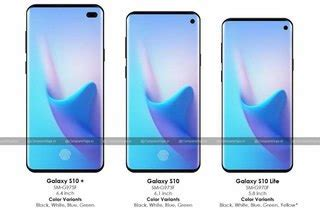 samsung galaxy s10 renders show punch again