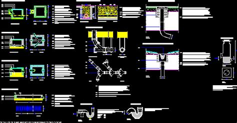 drainage system dwg detail  autocad designs cad
