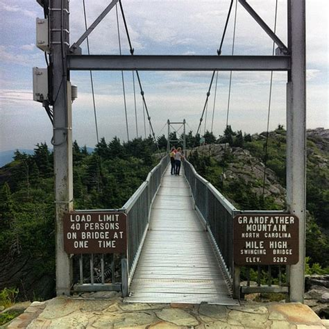 grandfather mountain mile high swinging bridge mile high swinging bridge grandfather mountain nc