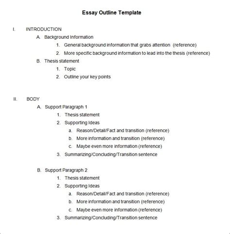 apa format outline template free 21 outline templates free sle exle format