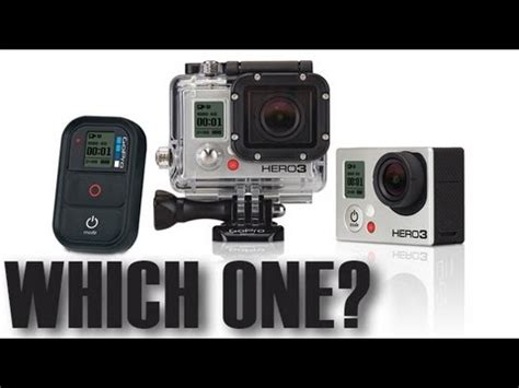 what's the difference between the gopro hero3 black