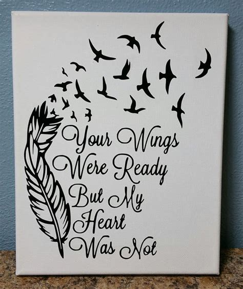 tattoo ideas your wings were ready canvas print your wings were ready but my heart was not 8