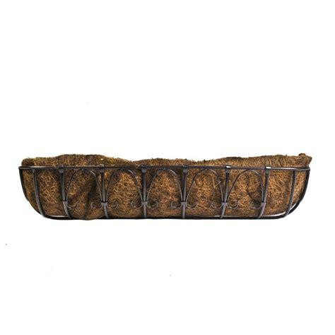 metal trough planter cobraco 36 in kingston trough metal planter ht102