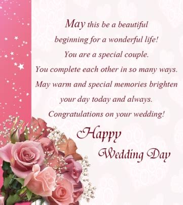 happy wedding day greetings card wishes quotes messages