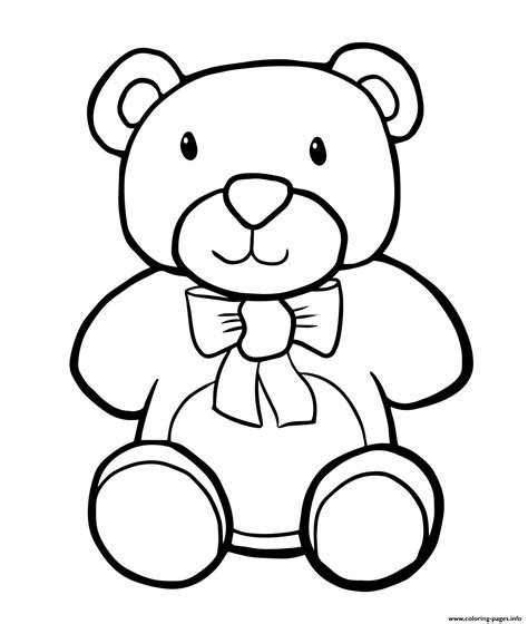 simple bear coloring page teddy bear simple kids coloring pages printable
