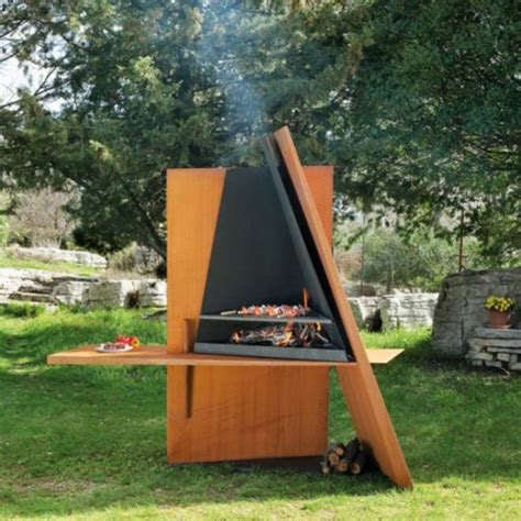 Outdoor Fireplace And Grill Designs by Useful Sculpture Outdoor Grill Design From Focus