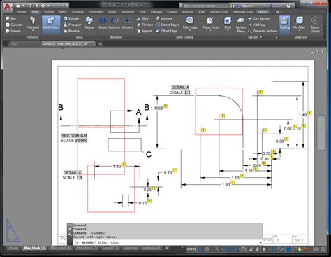 edit layout view autocad object disappears from layout after model space edit