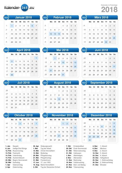 Kalender 2o18 Kalender 2018