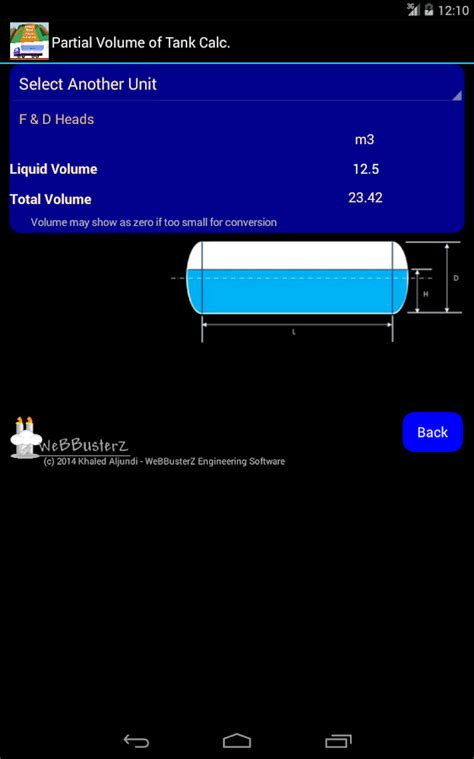 calculator level 72 volume of tank calculator android apps on google play