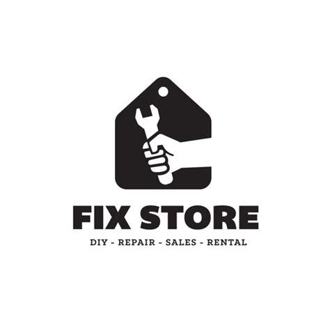 fixer logo fix store logo template vector free