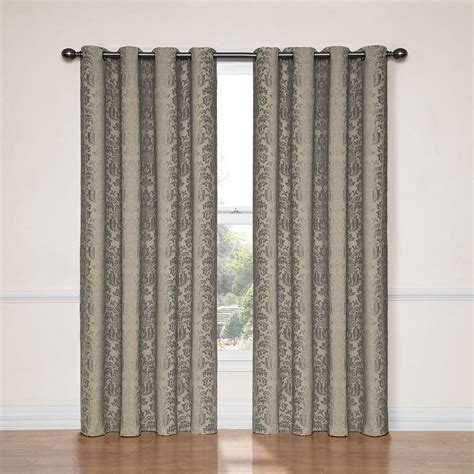 curtains 95 length eclipse meridian blackout linen curtain panel 95 in