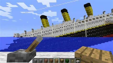imagenes de barcos minecraft titanic en minecraft youtube