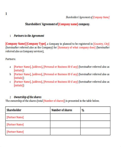 shareholder buyout agreement template 10 sle shareholder agreements sle templates