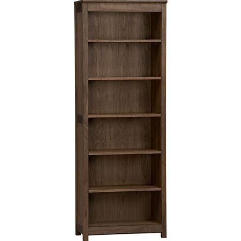 ainsworth walnut bookcase crate and barrel crate and