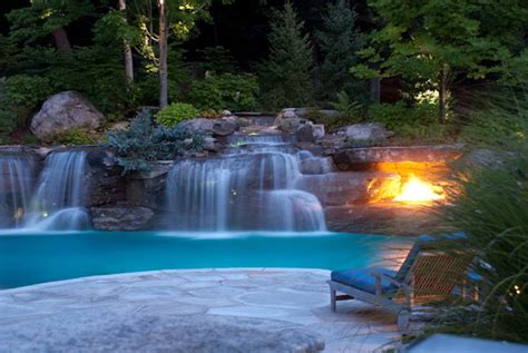 waterfalls for pools inground pool waterfalls design mahwah nj cipriano landscape