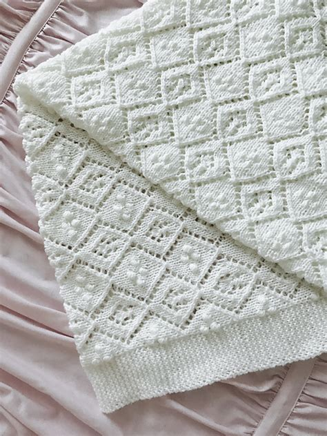 Free Baby Blanket Knitting Pattern by Thine Receiving Blanket Free Baby Knit Pattern Knitting Bee
