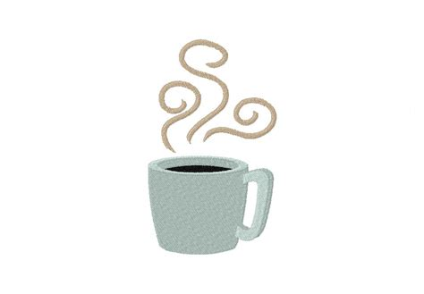 coffee cup design steaming coffee cup machine embroidery design daily