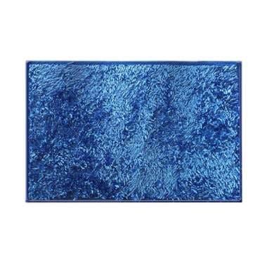 Keset Cendol Biru jual cendol metalik biru tua keset 40x60 cm