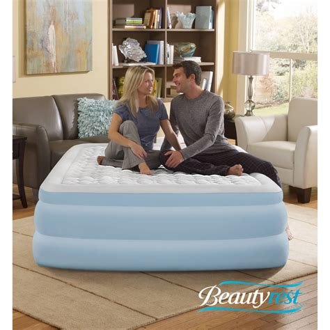 simmons beautyrest contour aire 18 quot raised air bed mattress with ebay