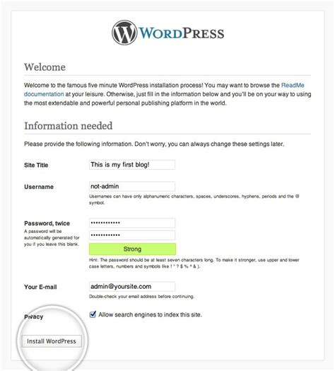 wordpress tutorial step by step how to install wordpress wordpress installation tutorial